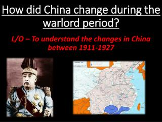 How did China change during the warlord period?