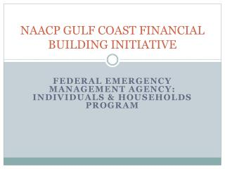 NAACP GULF COAST FINANCIAL BUILDING INITIATIVE