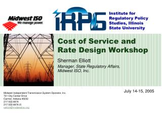Cost of Service and Rate Design Workshop