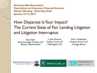 How Disparate Is Your Impact? The Current State of Fair Lending Litigation and Litigation  Interruptus