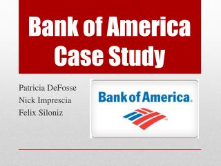 Bank of America Case Study