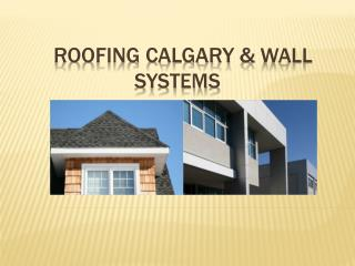 Roofing Calgary &  wall       systems