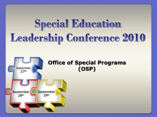 Special Education Leadership Conference 2010