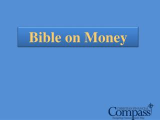 Bible on Money
