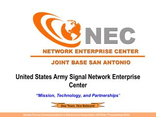 United States Army Signal Network Enterprise  Center