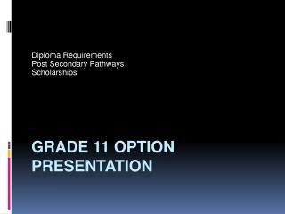 Grade 11 option presentation