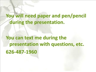 you will need paper and pen