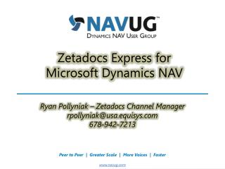 Zetadocs Express for  Microsoft Dynamics NAV
