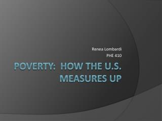Poverty: How the U.S. measures UP