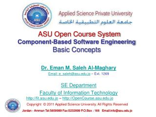 Component-Based Software Engineering Basic Concepts