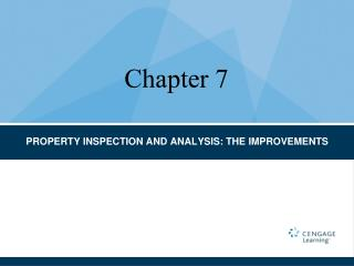 PROPERTY INSPECTION AND ANALYSIS: THE IMPROVEMENTS
