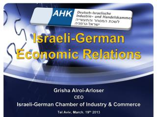 Israeli-German Economic Relations