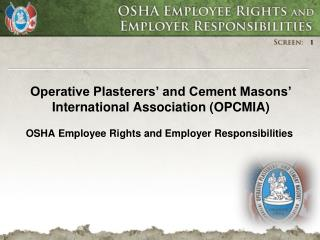 Operative Plasterers' and Cement Masons' International Association (OPCMIA)