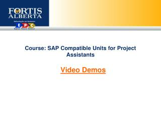Course: SAP Compatible Units for Project Assistants