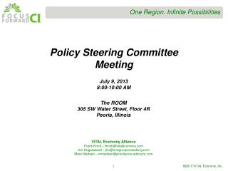 Policy Steering Committee Meeting