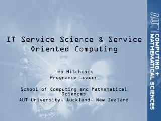 IT  Service  Science & Service Oriented Computing