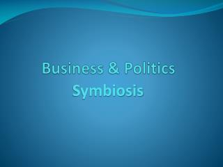 Business & Politics