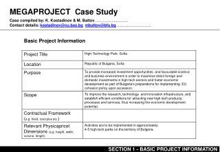 MEGAPROJECT Case Study