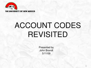 Account codes revisited