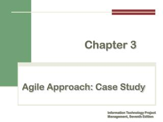 Agile Approach:  Case Study