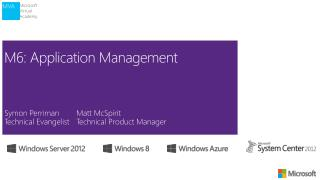 M6: Application Management