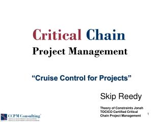 """Cruise Control for Projects"""