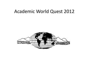 Academic World  Q uest 2012