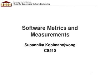 Software Metrics and Measurements