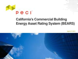 California's Commercial Building Energy Asset Rating System (BEARS)