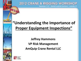 """Understanding the Importance of  Proper Equipment Inspections"""