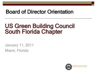 Board of Director Orientation