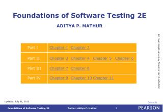 Foundations of Software Testing 2E ADITYA P. MATHUR