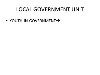 LOCAL GOVERNMENT UNIT