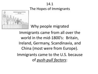 14.1 The Hopes of Immigrants