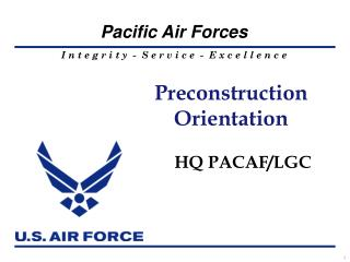 Preconstruction Orientation