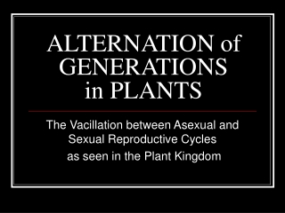 alternation of generations