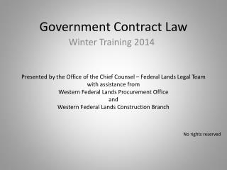 Government Contract Law