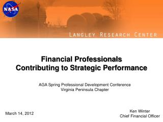 Financial Professionals Contributing to Strategic Performance