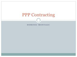PPP Contracting