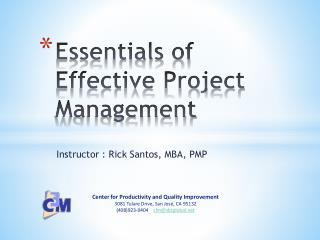 Essentials of Effective Project Management