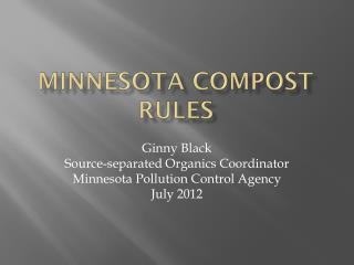 Minnesota Compost Rules