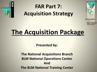 FAR Part 7: Acquisition Strategy
