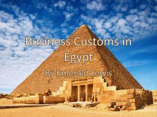 Business Customs in Egypt