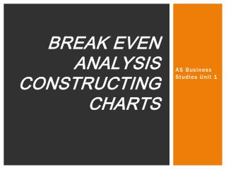 Break Even Analysis Constructing Charts