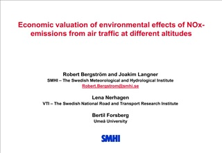 economic valuation of environmental effects of nox-emissions from air traffic at different altitudes