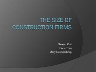 The size of construction firms