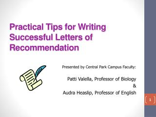Practical Tips for Writing Successful Letters of Recommendation