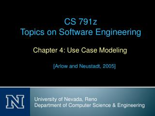 Chapter 4: Use Case Modeling