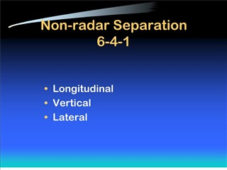 non-radar separation 6-4-1