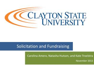 Solicitation and  Fundraising